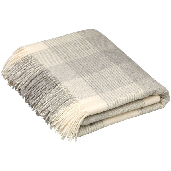Bronte Throw Blanket Check Grey