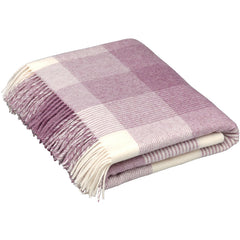 Bronte Throw Blanket Check Lilac