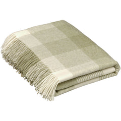 Bronte Throw Blanket Check Sage