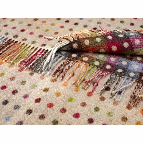 Bronte Throw Multi Spot - Beige Multi