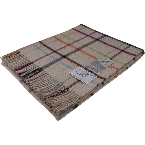 Bronte Throw Multi Windowpane - Beige Multi