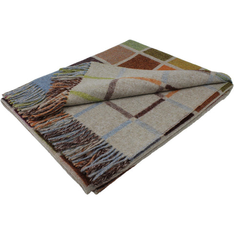 Bronte Throw Multiblock - Beige Multi