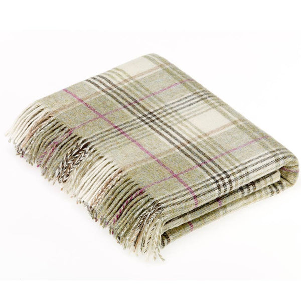 Bronte Throw Shetland Huntingtower Fern