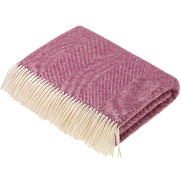 Bronte by Moon Herringbone Pink Throw