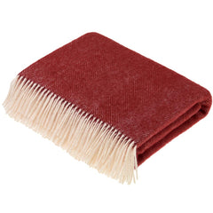 Bronte by Moon Herringbone Red Throw