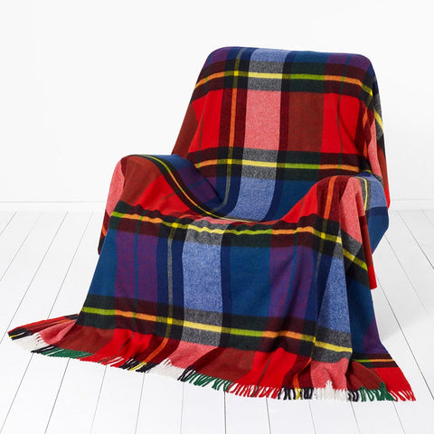 Bronte By Moon Madison Check Tartan Throw