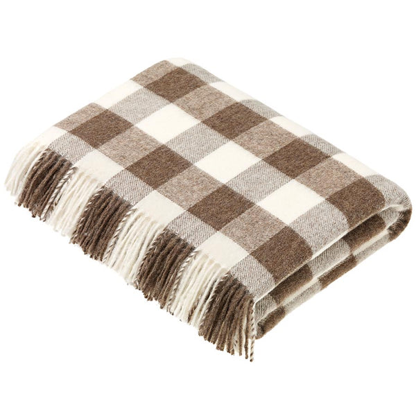 Bronte By Moon Checkerboard Natural Throw