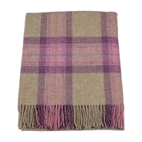 Bronte Throw British Wool Skye Rose