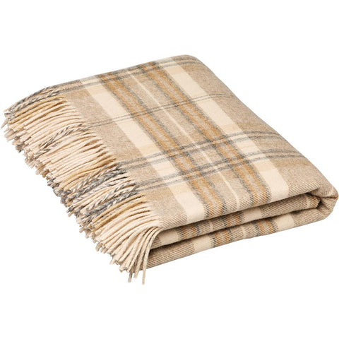 Bronte By Moon Throw Heather Check Natural Beige