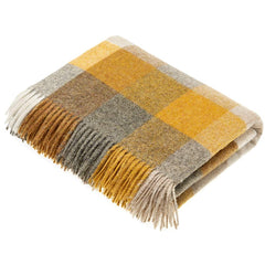 Bronte by Moon Harlequin Mustard Throw