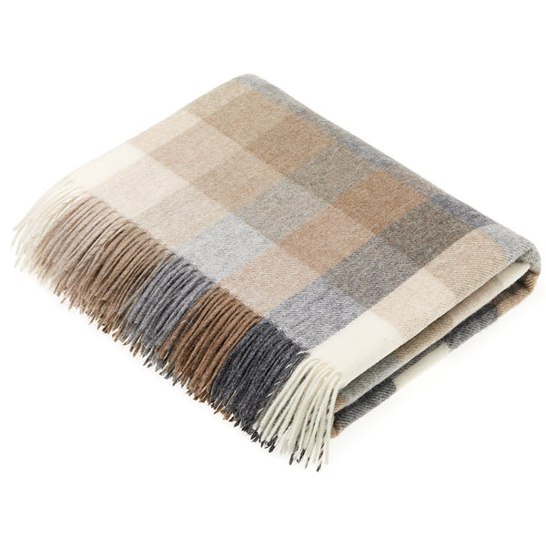 Bronte By Moon Harlequin Natural Throw