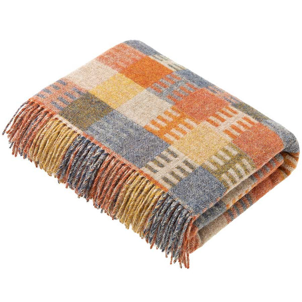 Bronte by Moon Throw Loxhill Check Ochre