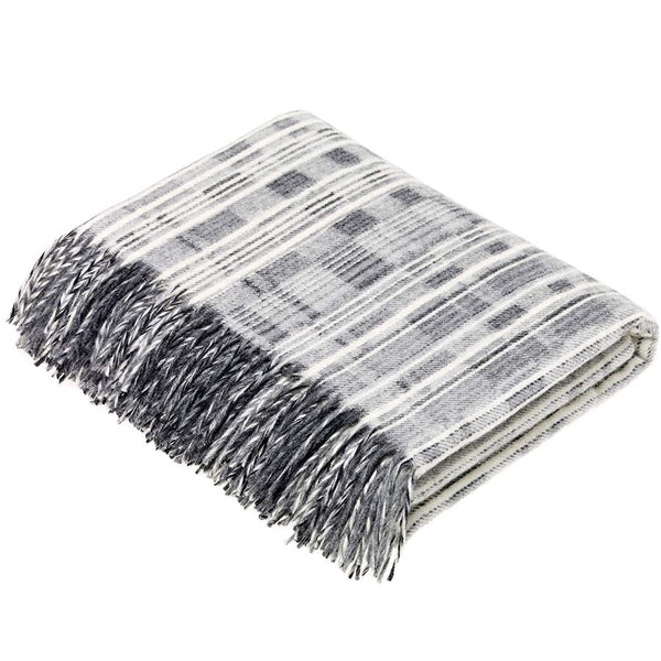Bronte by Moon Throw Multistripe Grey