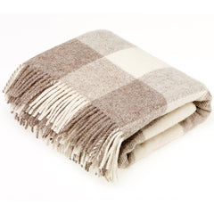 Bronte Throw Checkaboard Beige Natural Collection