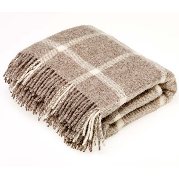 Bronte Throw Windowpane Beige Natural Collection