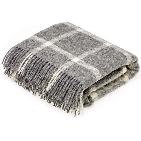 Bronte Throw Windowpane Grey Natural Collection