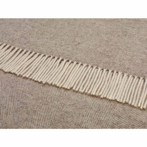 Bronte Throw Herringbone Beige Natural Collection
