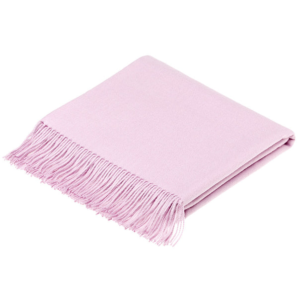 Bronte by Moon Alpaca Throw Dusky Pink