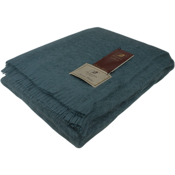 Bronte by Moon Mohair Throw Juniper
