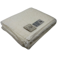 Bronte by Moon Mohair Throw Natural