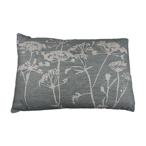 Helkat Cow Parsley Cushion Teal - 61x40cm