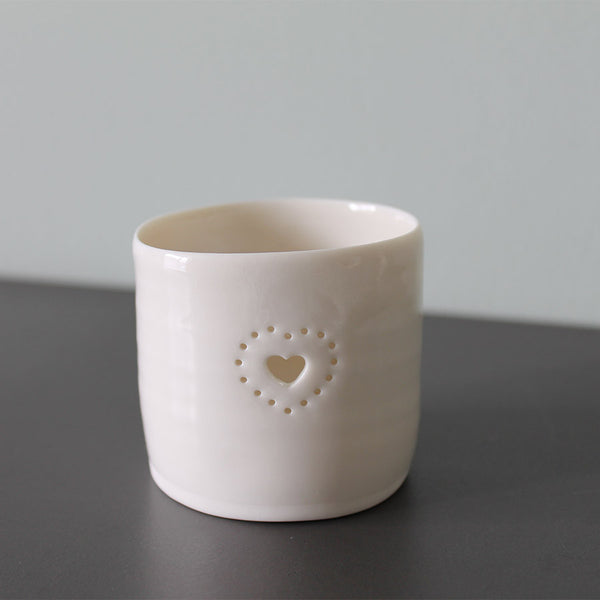 Luna Lighting Mini Tea Light Holder - Double Heart