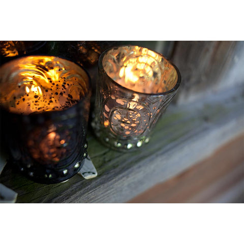 Nkuku Embossed Tea Light (Set of 3)