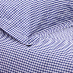 Fitted Sheet Gingham Navy - Single