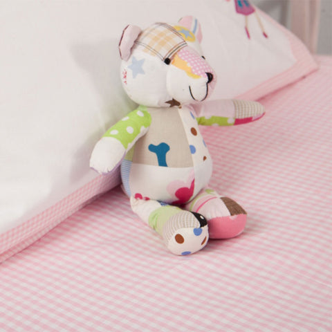 Fitted Sheet Gingham Pink - Cot Bed