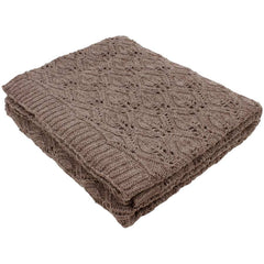Nkuku Flora Knitted Throw Mocha