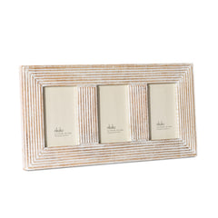 "Nkuku Fundo Wood Photo Frame 3 x (4 x 6"")"