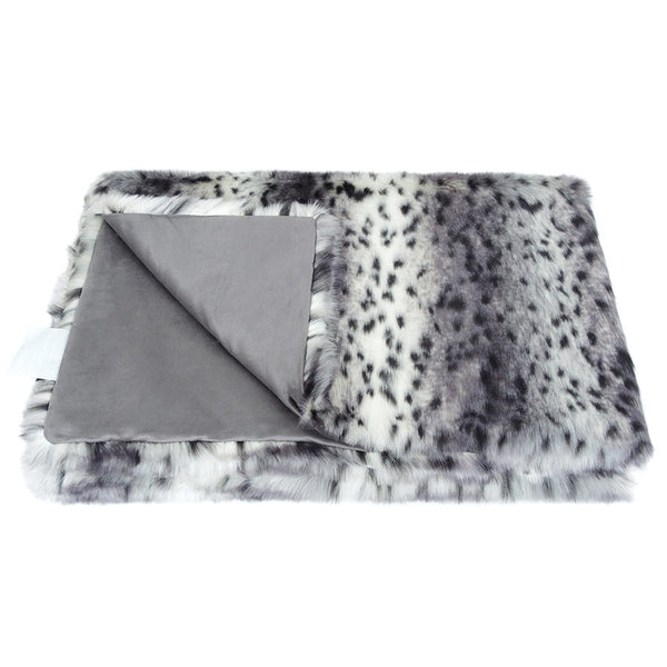 Helen Moore Arctic Leopard Faux Fur - Throw