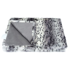 Helen Moore Arctic Leopard Faux Fur Throw