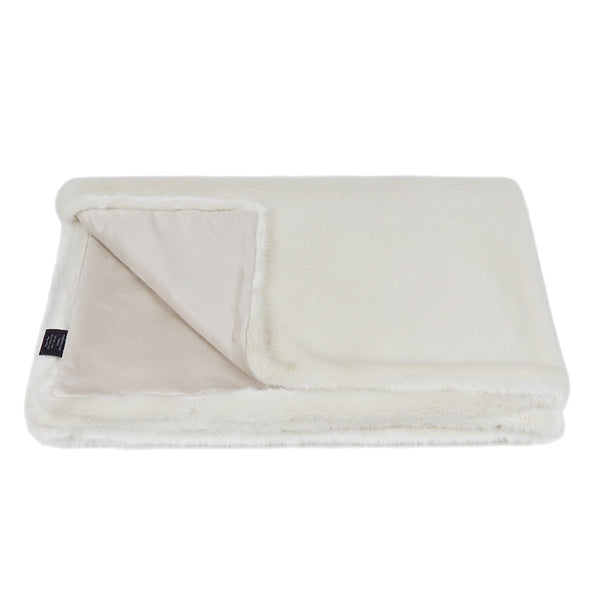Helen Moore Ermine Faux Fur Throw