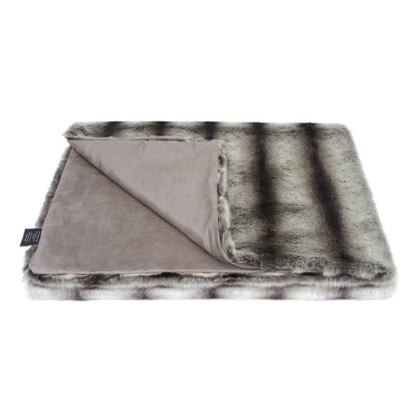 Helen Moore Grey Chinchilla Faux Fur - Throw