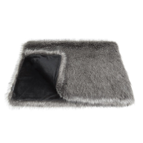 Helen Moore Lady Grey Faux Fur - Throw