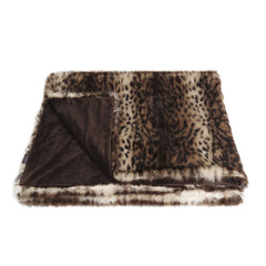 Helen Moore Ocelot Faux Fur Comforter Throw