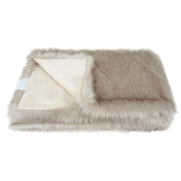 Helen Moore Oyster Faux Fur - Throw