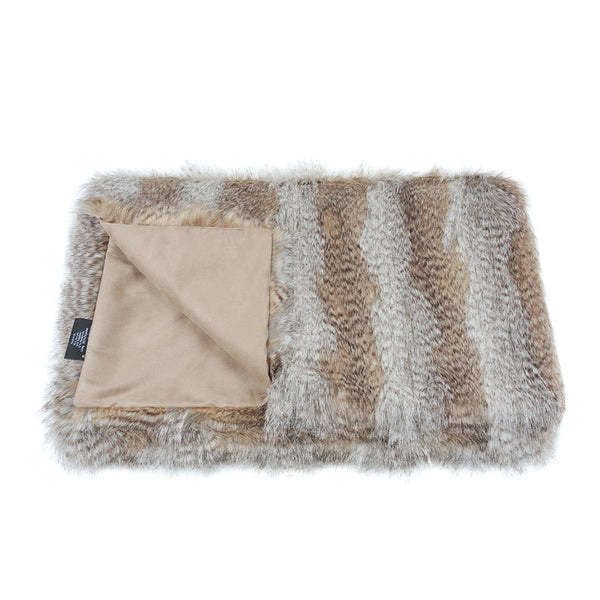 Helen Moore Siberian Wolf Faux Fur Throw