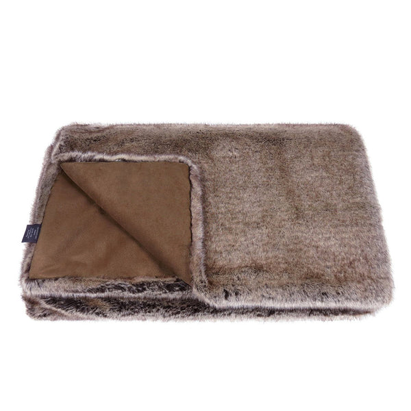 Helen Moore Truffle Faux Fur Throw 145 x 180cm