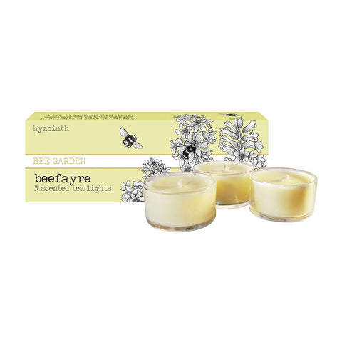 Beefayre Hyacinth Scented Glass Tea Lights