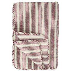 IB Laursen Quilt Red And White Stripes 130 x 180cm