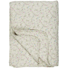 IB Laursen quilt beige with mini rose pattern