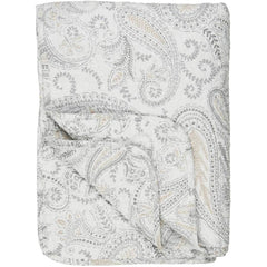 IB Laursen quilt white with beige paisley