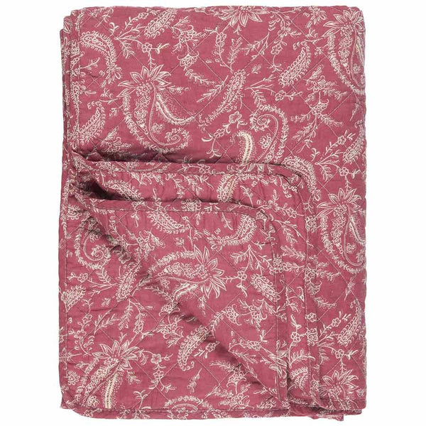 IB Laursen Quilt Pink With Paisley 130 x 180cm