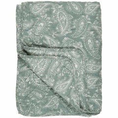IB Laursen 0796-81 quilt dusty green with paisley 130x180