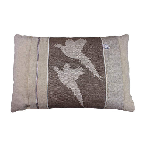 Helkat Kissing Pheasants Cushion - 61x40cm