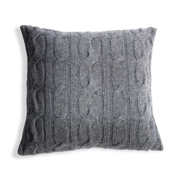Nkuku Lambswool Cushion Grey - 42x42cm