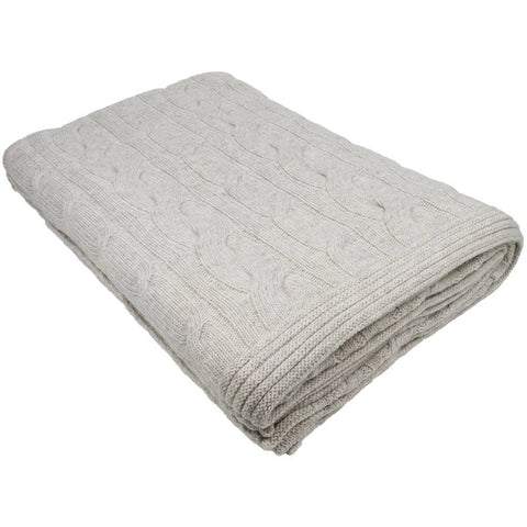Nkuku Lambswool Throw Oatmeal