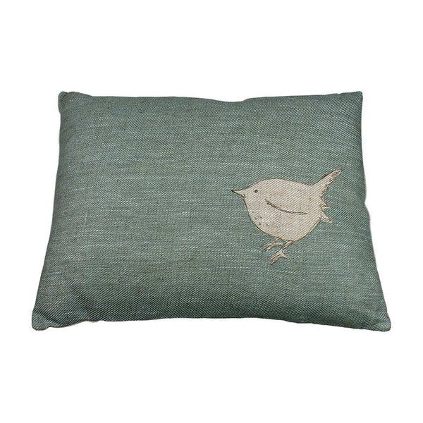 Helkat Little Wren Cushion Eau De Nil (R) - 43x33cm